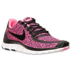 Nike free 5.0 leopard hyper pink shoes sneakers